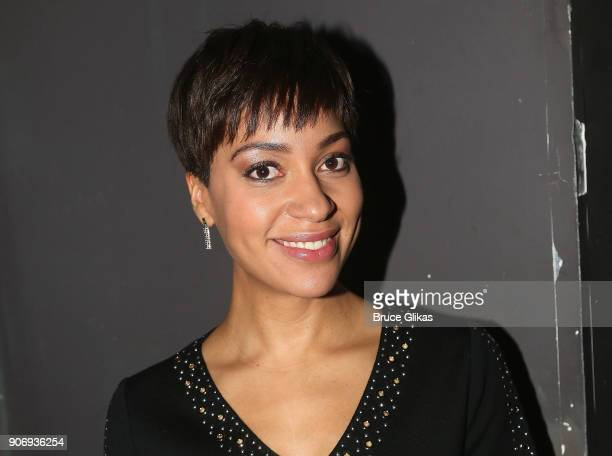 Cush Jumbo poses backstage at The 33rd Annual Artios Awards given for excellence in casting at Stage 48 on January 18 2018 in New York City