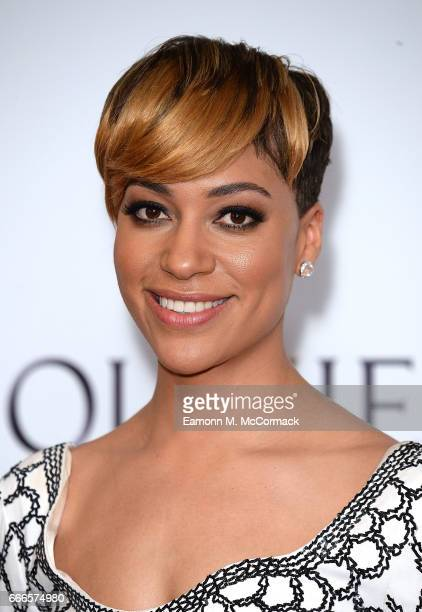 Cush Jumbo poses in the winners room at The Olivier Awards 2017 at Royal Albert Hall on April 9 2017 in London England