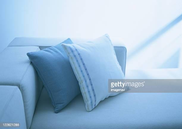 Cushions and sofa