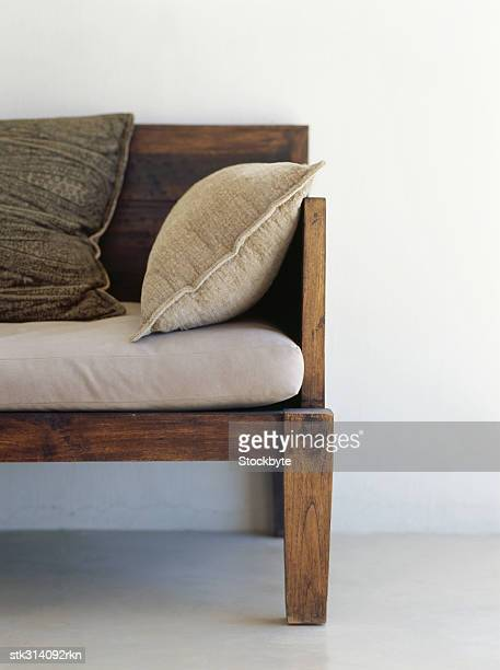 cushions on a couch in a room