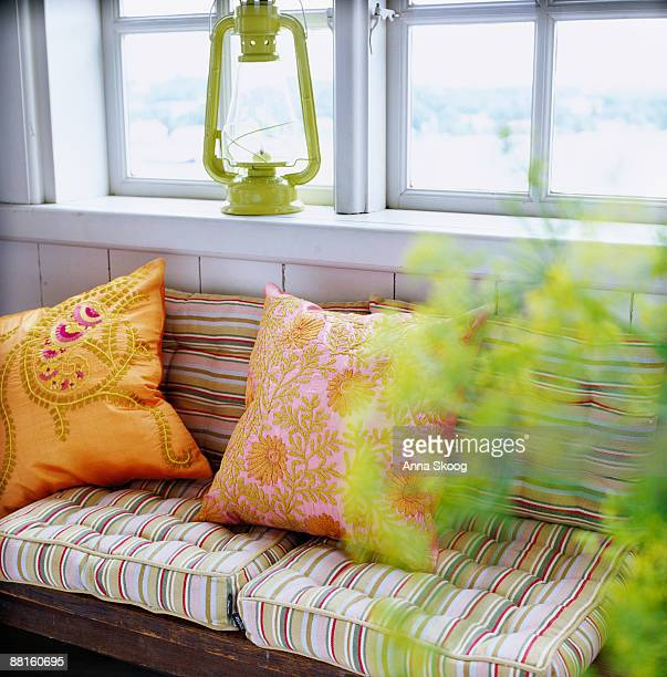 A cushions on a sofa Sweden.