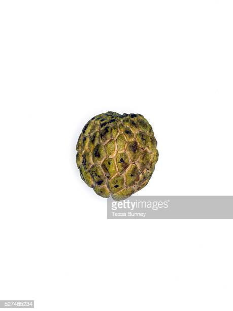 Custard apple purchased from Khua Din early morning fresh food market Vientiane Lao PDR A large variety of local products are available for sale in...