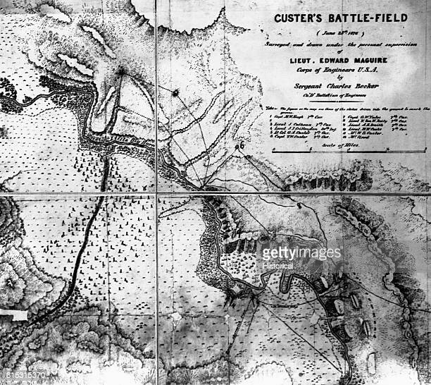 Custer Battlefield Copy from map 21637 This map is in the book Reno Court of Inquiry July 2526 and was furnished by Gen Croft Chief of Infantry
