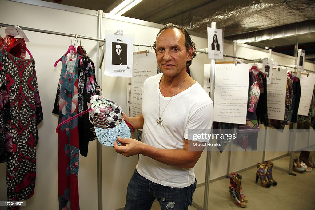 Custo Dalmau attends on backstage at his Custo Dalmau's Spring-Summer 2014 Collection during 080 Barcelona Fashion Week on July 10, 2013 in Barcelona, Spain.