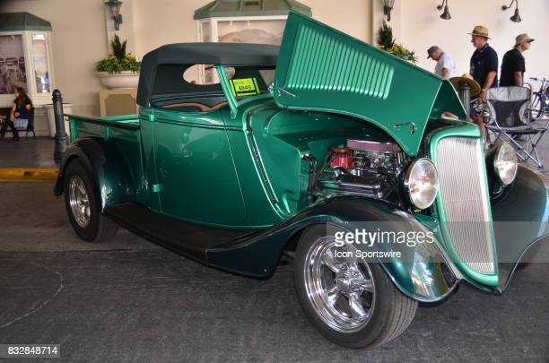 Custom 1934 Ford Pickup convertible on display at the Hot August Nights Custom Car Show the largest nostalgic car show in the world on August 10 2017...