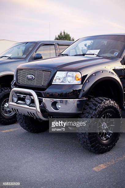 custom 4x4 ford truck - customized car stock pictures, royalty-free photos & images