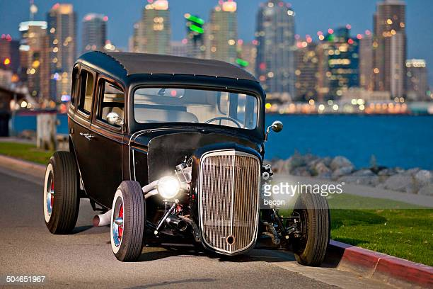 custom built hot rod - hot rod car stock photos and pictures