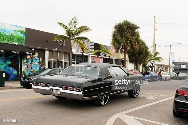 Custom Chevrolet Impala Car with Drives Through Wynwood Miami