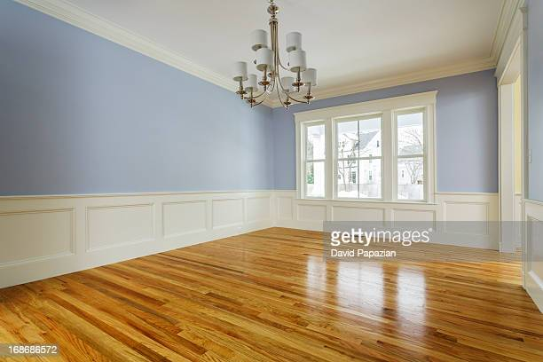 custom home interior without furniture - hardwood stock pictures, royalty-free photos & images
