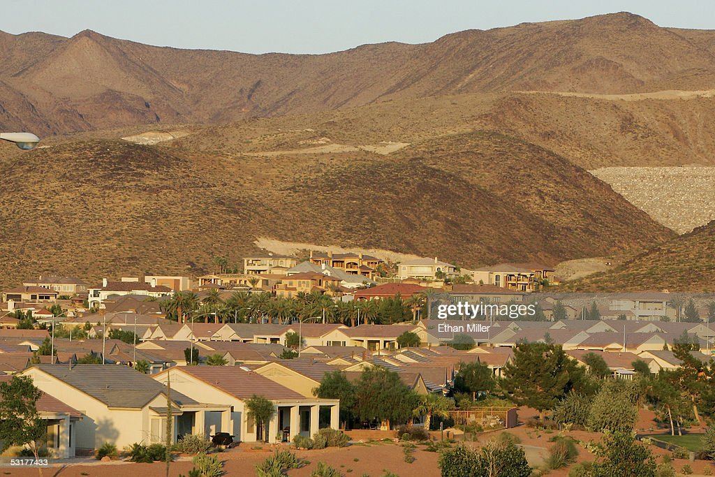 Custom homes are being built on hillsides at the MacDonald Highlands community on the southern end of Henderson, on June 30, 2005 in Henderson, Nevada. Henderson, a suburb of Las Vegas, was sixth on the U.S. Census Bureau's list, ranked by percentage gain, of fastest growing cities with at least 100,000 people according to data released by the bureau on June 30.
