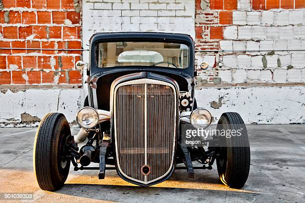custom hot rod front end - hot rod car stock photos and pictures