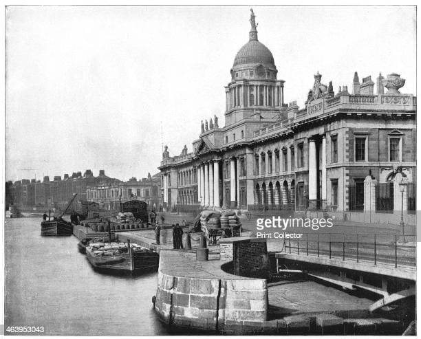Custom House Dublin Ireland late 19th century Photograph from Portfolio of Photographs of Famous Scenes Cities and Paintings by John L Stoddard...