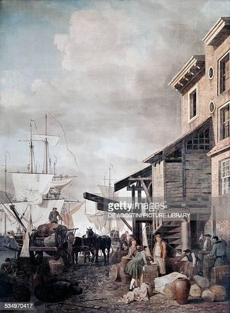 Custom House quay in London by Samuel Scott United Kingdom 18th century