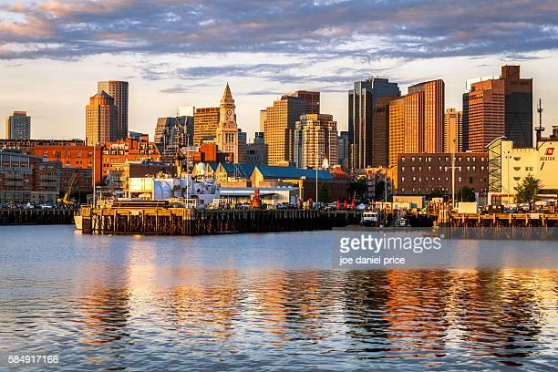 Custom House, Skyline, Sunrise, Boston, Massachusetts, America