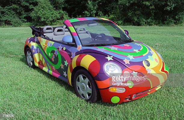 A custom made 1998 Volkswagen Beetle featured in the movie Austin Powers 2 The Spy Who Shagged Me is seen on displya in August 2000 in Fort Wayne IN...
