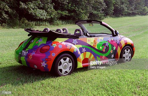 A custom made 1998 Volkswagen Beetle featured in the movie 'Austin Powers 2 The Spy Who Shagged Me' is seen on displya in August 2000 in Fort Wayne...