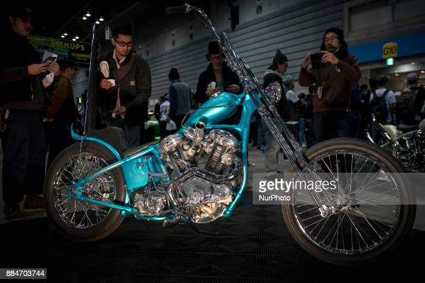 A custom motorcycle is shown during the 26th Annual Yokohama Hot Ror Custom Show 2017 December 3 2017 in Yokohama Japan For the past couple of...