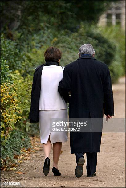 Customary Tree Planting Ceremony For French Prime Minister Jean-Pierre Raffarin In The Gardens Of Matignon On December 14Th, 2002 In Paris, France....