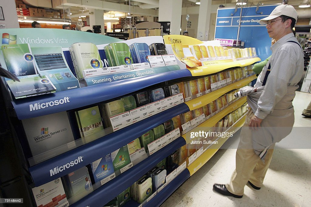 Microsoft Launches Vista Operating System : News Photo