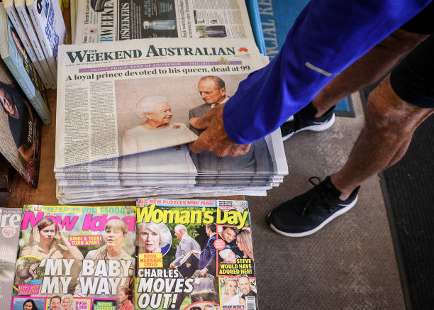 AUS: Australian Newspapers The Day After The Duke Of Edinburgh Died