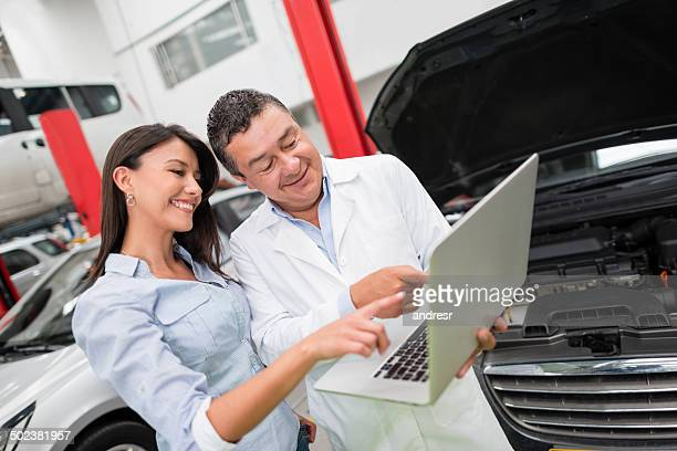 Customer at an auto repair shop