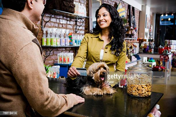 Customer at Pet Shop