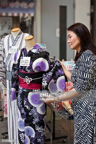 Customer at Yukata shop