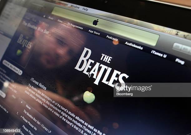 A customer browses Beatles songs on Apple Inc's iTunes website in London UK on Thursday Nov 18 2010 Apple Inc began offering Beatles songs through...