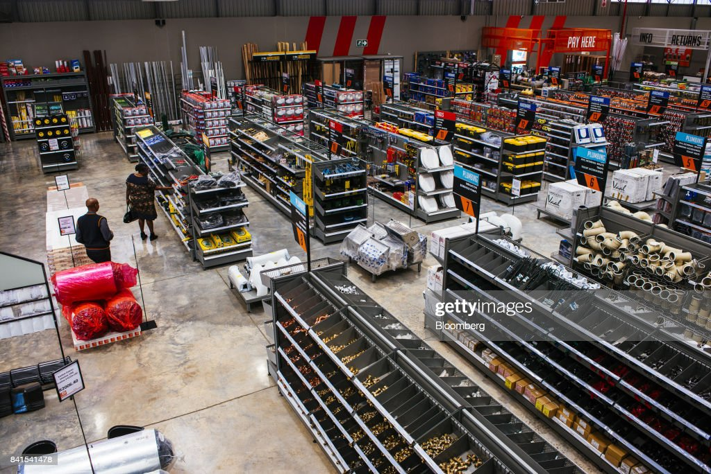 A customer browses goods in a display aisles inside a Buco hardware-buildware store, operated by Steinhoff International Holdings NV, in Johannesburg, South Africa, on Thursday, Aug. 31, 2017. Steinhoffsaid like-for-like sales rose 8 percent as the South African furniture and clothing retailer achieved gains in its core European and African markets. Photographer: Waldo Swiegers/Bloomberg via Getty Images