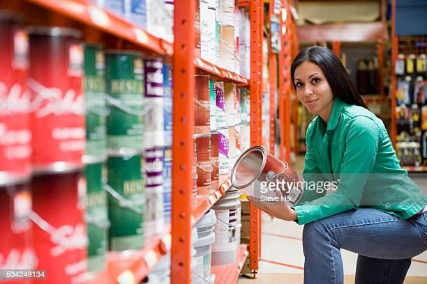 Customer Choosing Paint Type
