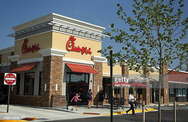 A customer comes out from a ChickfilA July 26 2012 in Springfield Virginia The recent comments on supporting traditional marriage which made by...