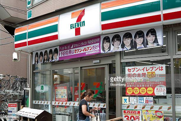 A customer enters a 7Eleven convenience store operated by Seven I Holdings Co in Tokyo Japan on June 30 2015 Coffee sales at convenience stores...