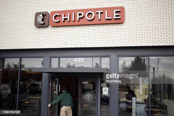 A customer enters a Chipotle Mexican Grill Inc restaurant in Louisville Kentucky US on Saturday Feb 2 2019 Chipotle Mexican Grill Inc is scheduled to...