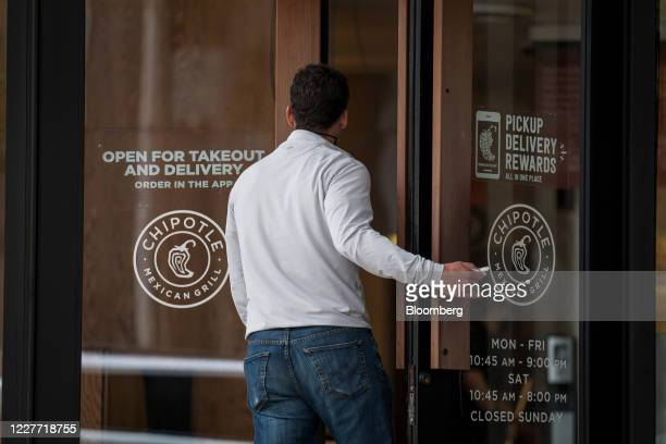 A customer enters a Chipotle Mexican Grill Inc restaurant in San Francisco California US on Monday July 20 2020 Chipotle is scheduled to release...