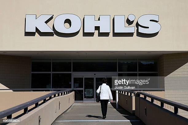 A customer enters a Kohl's store on November 12 2015 in San Rafael California Kohl's reported a betterthanexpected third quarter earnings with a net...