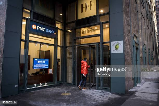 A customer enters a PNC Financial Services Group Inc bank branch in downtown Chicago Illinois US on Tuesday Jan 9 2018 PNC Financial Services Group...