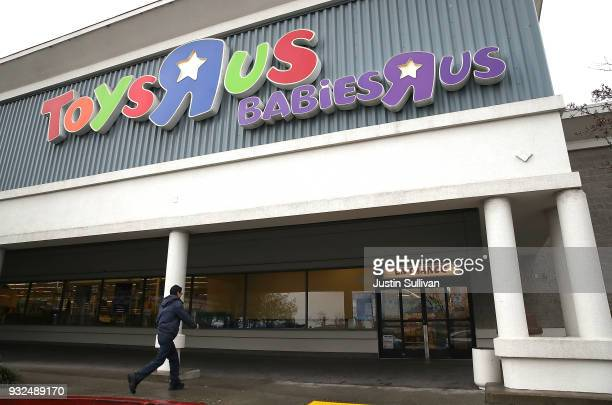 Customer enters a Toys R Us store on March 15, 2018 in San Rafael, California. Toys R Us filed for liquidation in a U.S. Bankruptcy court and plans...