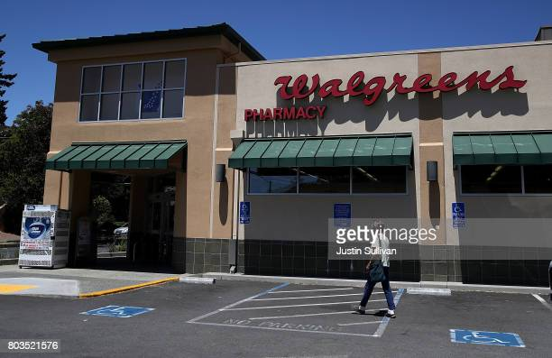A customer enters a Walgreens store on June 29 2017 in San Anselmo California Walgreens Boots Alliance Inc reported better than expected first...