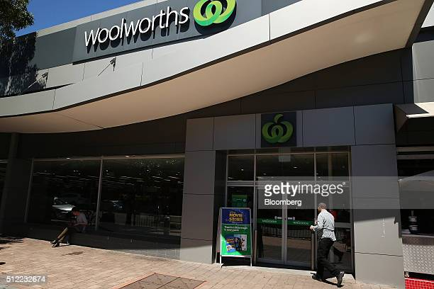 A customer enters a Woolworths Ltd supermarket in Sydney Australia on Wednesday Feb 24 2016 Woolworths Ltd Australia's largest supermarket chain...