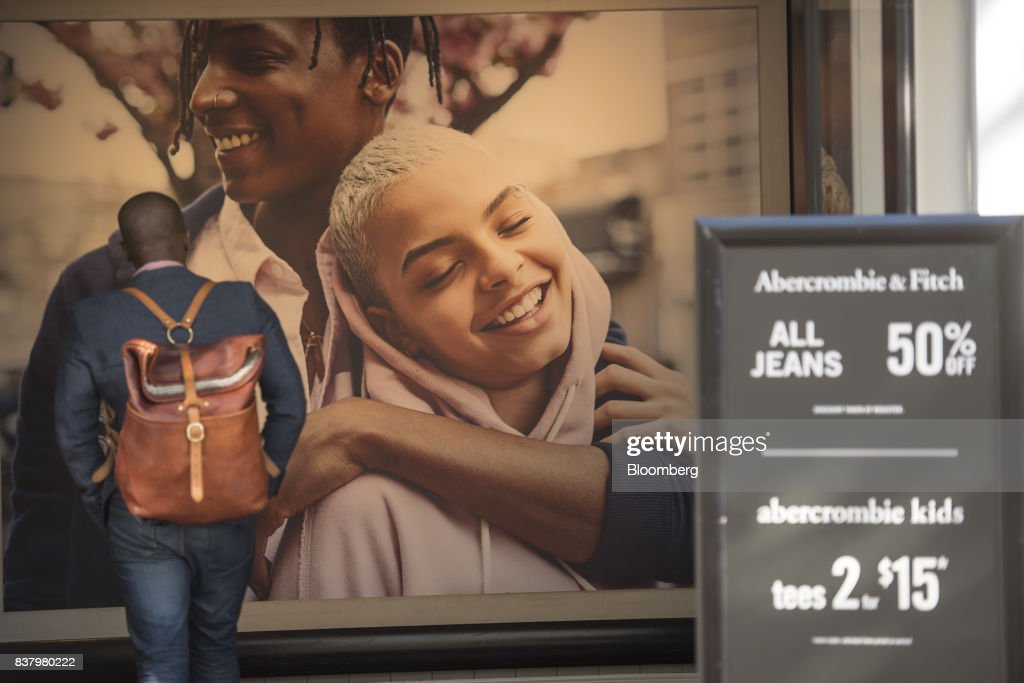 A customer enters an Abercrombie & Fitch Co. store in San Francisco, California, U.S., on Tuesday, Aug. 22, 2017. Abercrombie & Fitch Co. is scheduled to release earnings figures on August 24. Photographer: David Paul Morris/Bloomberg via Getty Images