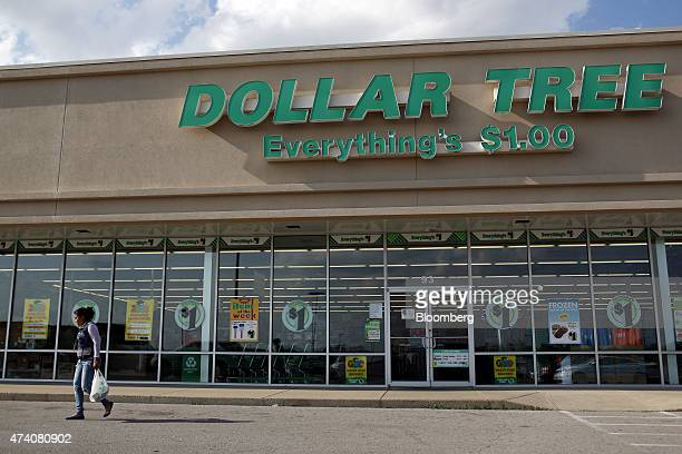 A customer exits a Dollar Tree Inc dollar store after shopping in Shelbyville Kentucky US on Friday May 15 2015 Dollar Tree is expected to release...