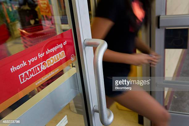 A customer exits a Family Dollar Stores Inc location in Davis California US on Tuesday Aug 5 2014 Dollar General Corp is weighing a bid for Family...