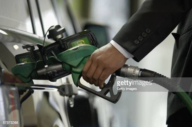 A customer fills his petrol tank at BP petrol station on Park Lane April 29 2006 in London England Crude oil has hit a record high of $7422 a barrel...
