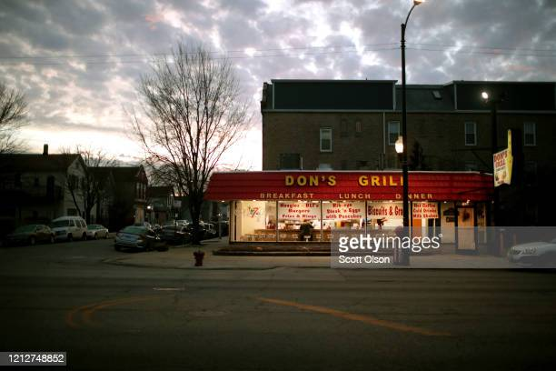A customer has breakfast at Don's Grill in the Pilsen neighborhood on March 16 2020 in Chicago Illinois Yesterday the governors of Illinois and Ohio...