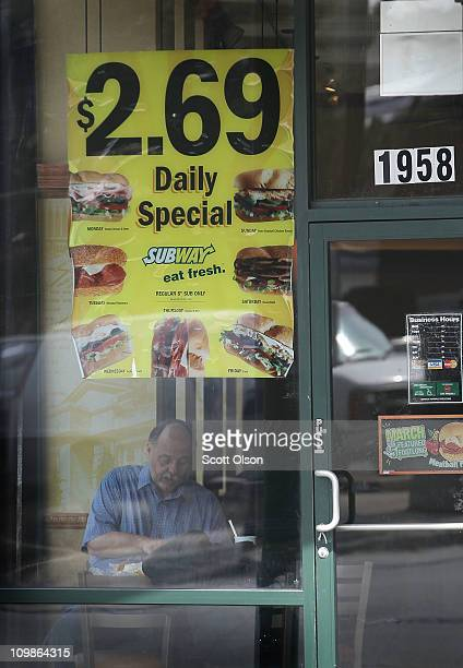A customer has lunch in a Subway restaurant on March 8 2011 in Chicago Illinois With 34225 restaurants in 95 countries Subway has surpassed McDonalds...