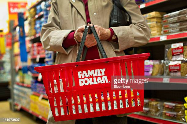 Customer Helen Buckley shops at a Family Dollar Stores Inc location in Sterling Illinois US on Tuesday March 27 2012 Family Dollar Stores Inc the...