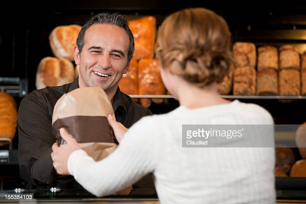 Customer in bakery