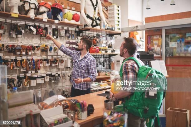 スポーツ用品店での顧客