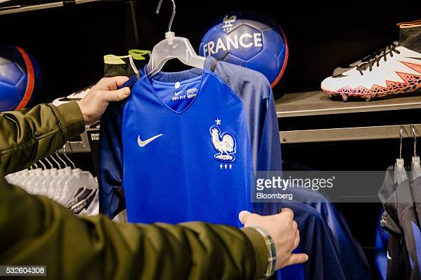 new styles b6c0e 77ab3 Soccer Apparel On Display Inside A Nike Inc Store Ahead Of ...