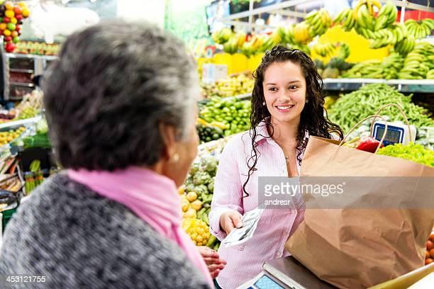 お支払いのお客様には、スーパーマーケット